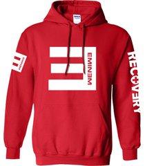 eminem hoodie red unisex adult sweater cotton blend pullover fleece sweatshirt