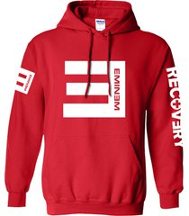 eminem hoodie red unisex adult sweater cotton blend pullover fleece sweatshirt