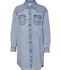 denim western dress kort klänning blå wrangler