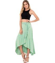 falda anahi verde ragged pf11320376