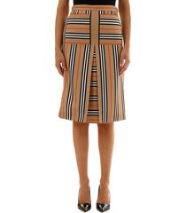 burberry flared skirt striped pattern