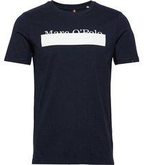 t-shirt, short sleeve, crew neck, 1 t-shirts short-sleeved blå marc o'polo