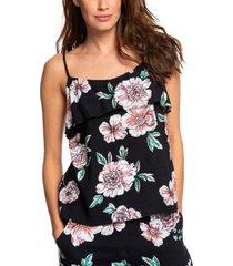 roxy juniors' ruffled floral-print tank top