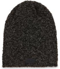 men's ugg boucle knit beanie - black