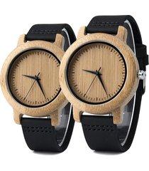 relojes para parejas madera bobo bird 702 (par)
