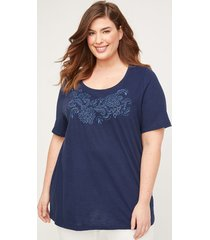 belhaven embroidered tee