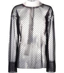 viktor & rolf fancy bow polka-dot blouse - black