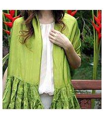 scarf, 'lime ruffles' (thailand)