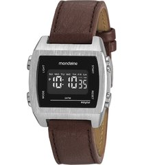 relógio digital mondaine masculino - 99395g0mvnh1 prateado