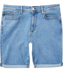 river island mens big & tall blue skinny fit shorts