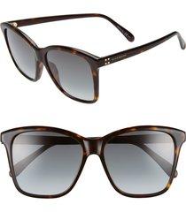 givenchy 55mm gradient square sunglasses in dark havana at nordstrom