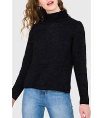 sweater io negro - calce holgado