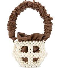 0711 mei small bucket bag - brown