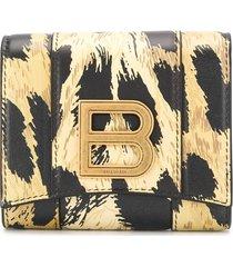 balenciaga leopard print wallet - neutrals