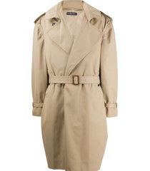 y/project mid-length belted coat - neutrals