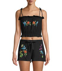 embroidered cropped top