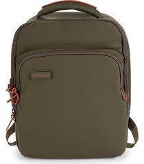 mandarina duck women's slim touch faux leather backpack - military