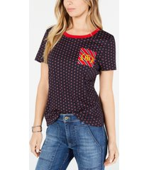 tommy hilfiger cotton printed logo t-shirt, created for macy's