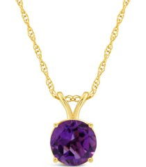 amethyst (1-1/4 ct. t.w.) pendant necklace in 14k yellow gold. also available in garnet, citrine, blue topaz, white topaz and peridot