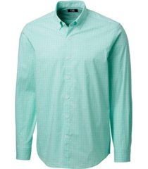cutter & buck men's soar windowpane shirt