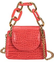 melie bianco bella micro vegan leather croco crossbody