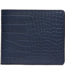 'hipster' alligator leather bi fold wallet