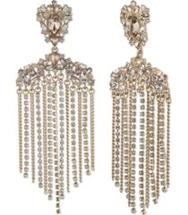givenchy gold-tone crystal fringe chandelier drop earrings