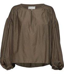 herdis blouse lange mouwen bruin fall winter spring summer