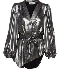 falon top blouse lange mouwen zilver ravn