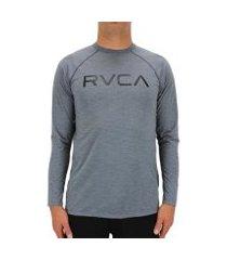 camiseta rvca lycra m/l micro mesh camo