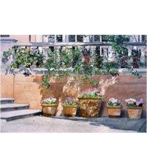 "david lloyd glover brentwood park canvas art - 37"" x 49"""