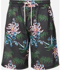 kenzo men's technical all over print shorts - black - m
