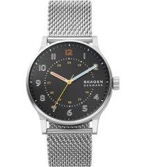 skagen men's norre stainless steel mesh bracelet watch 42mm