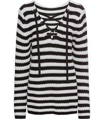 maglione a righe con stringhe (grigio) - rainbow