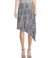 elie tahari women's alexa leopard-print asymmetric midi skirt - quartz multicolor - size 6