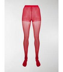 junya watanabe high-waist semi-sheer socks