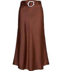 noella skirt lång kjol brun twist & tango