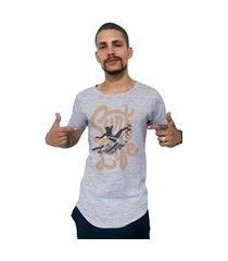 camiseta longline ukkan surf life mescla