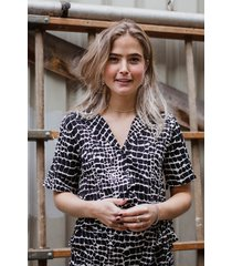 rut & circle blouse beige rut200235