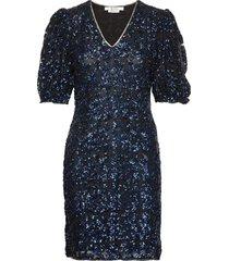 elviragz dress ye19 knälång klänning blå gestuz