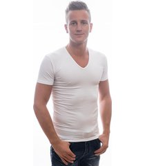 garage t-shirt deep v-neck bodyfit white (art 0206)