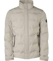 jacket short fit padded sealed chalk