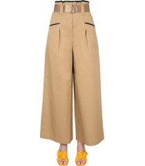 self-portrait culotte trousers with belt