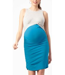 stowaway collection maternity twist and nursing dress