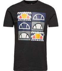 el romal tee t-shirts short-sleeved svart ellesse