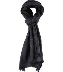 salvatore ferragamo fibbie frayed edges scarf