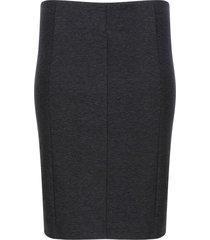falda unicolor con cortes color negro, talla s