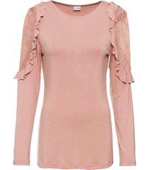 maglia a maniche lunghe con pizzo (rosa) - bodyflirt