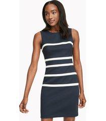 tommy hilfiger women's essential stripe sleeveless dress sky captain / ivory - 16