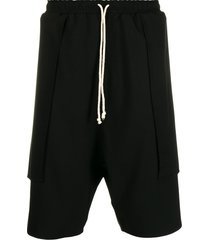 alchemy drop-crotch track shorts - black